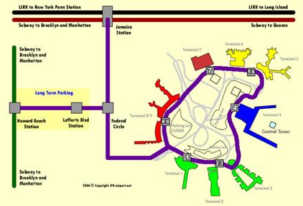 Nyc Subway Map Airtrain.Jfk Air Train Transportation Jfk Airport Transportation